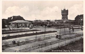 Ansichtkaart Bloemendaal Zeeweg met Paviljoen en Watertoren 1936 HC5094