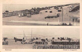 Ansichtkaart Zandvoort Strand en Zeegezicht Dubbele opname 1917 HC5119