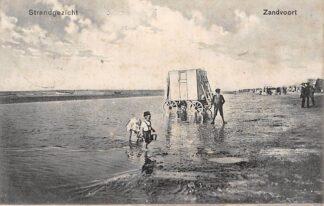 Ansichtkaart Zandvoort Strand gezicht met badkoets HC5122