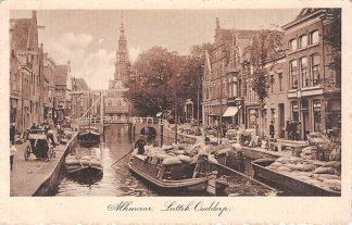 "Ansichtkaart Alkmaar ""Luttik Ouddorp"" met binnenvaart schepen 1914 HC5138"