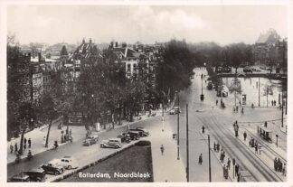 Ansichtkaart Rotterdam Noordblaak Auto Tramhalte 1940 HC5153