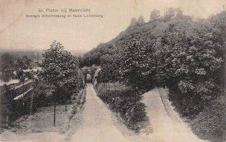 Ansichtkaart Maastricht St. Pieter Koningin Wilhelminaweg en Ruine Lichtenberg 1913 HC5173