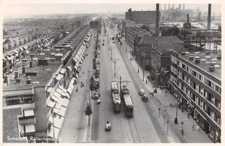 Ansichtkaart Schiedam Rotterdamsedijk RTM Trams Auto HC5191