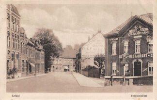 Ansichtkaart Sittard Stationsstraat Hotel de la Station C.H. Haartmans 1917 HC5198
