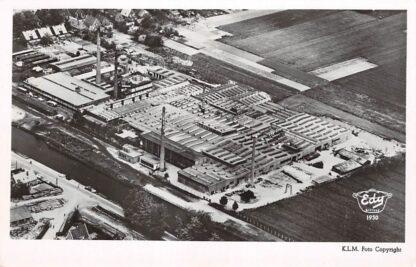 Ansichtkaart Dieren N.V. Emailleer fabriek De IJsel Edy giftvrij 1950 KLM Luchtfoto No. 25534 HC5207