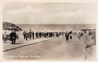 Ansichtkaart Zandvoort Groeten uit 1952 Strandweg naar strand en zee HC5208