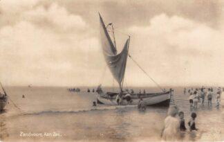 Ansichtkaart Zandvoort aan Zee Vissers schip Strand Type fotokaart HC5216
