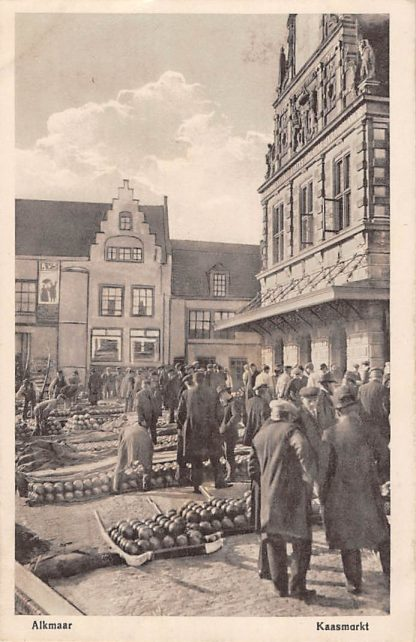 Ansichtkaart Alkmaar Kaasmarkt 1920 Markt Klederdracht HC5261