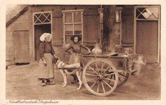 Ansichtkaart Noord-Brabant Dorpsleven Den Dungen Ant Smits-Meulenbroek en dochter Hondenkar Melkventer Klederdracht 1916 Den Bosch HC5276