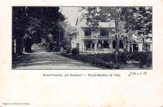 Ansichtkaart Wordt-Rheden Hotel Pension De Roskam tussen Rheden en Velp 1902 HC5278