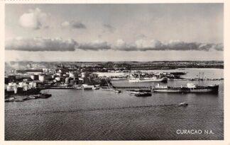 Ansichtkaart Curaçao Willemstad SHELL Oil Refinery Nederlandse Antillen Noord-Amerika Schepen HC5317