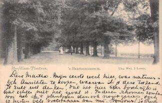 Ansichtkaart 's-Hertogenbosch Hoofdlaan-Plantsoen 1899 Den Bosch HC5324