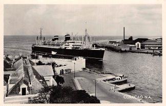 Ansichtkaart Curacao Willemstad Ingang van de haven Schepen Scheepvaart HC5335