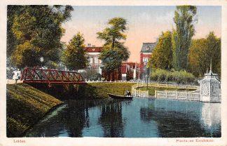 Ansichtkaart Leiden Plantsoen Eendekom 1927 HC5342