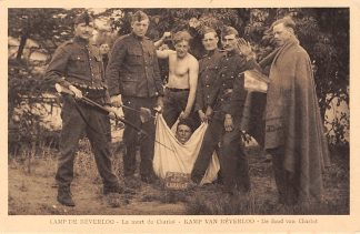 Ansichtkaart Belgie Beverloo Militair Kamp De dood van Charlot Soldaten Leopoldsburg Bourg-Leopold Europa HC5419