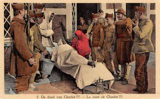 Ansichtkaart Belgie Militair kamp De Dood van Charlot ??? Soldaten Europa HC5422