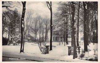 Ansichtkaart Drachten Haersma-State tijdens de winter in de sneeuw 1943 HC5425
