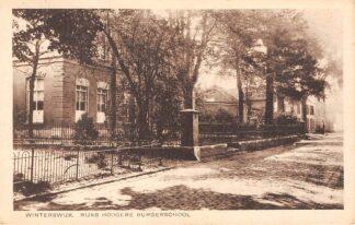 Ansichtkaart Winterswijk Rijks Hoogere Burger school 1943 HC5435