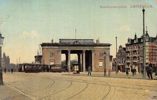 Ansichtkaart Amsterdam Haarlemmerpoort met trams tram 1916 HC5452