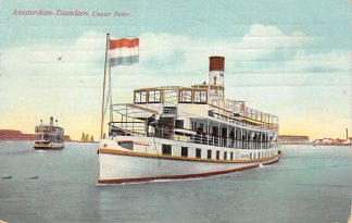 Ansichtkaart Amsterdam - Zaan Stoomschip Czaar Peter Schepen Binnenvaart Scheepvaart 1912 HC5458