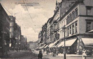 Ansichtkaart St. Johann Saarbrucken Bahnhofstrasse 1906 Duitsland Deutschland HC5469