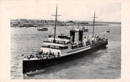 Ansichtkaart Antwerpen Mailboot Oostende - Dover op bezoek te Antwerpen Schepen Scheepvaart Belgie HC5470