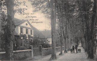 Ansichtkaart Loningen Allee mit Amtsgericht Deutschland Duitsland 1906 HC5472