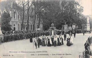 Ansichtkaart Frankrijk Lourdes Les Filles de Marie 1913 France Europa HC5473