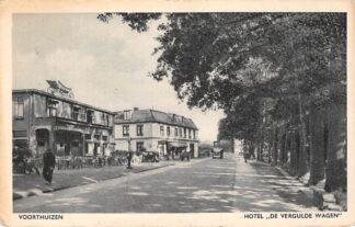 Ansichtkaart Voorthuizen Hotel De Vergulde Wagen 1948 HC5478