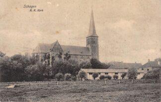 Ansichtkaart Schagen R.K. Kerk 1919 HC5490