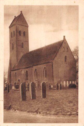 Ansichtkaart Midwolde Kerk met begraafplaats Kerkhof HC5506
