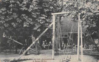 Ansichtkaart Bergen (NH) Speeltuin bij Cafe Duinvermaak 1909 HC5521