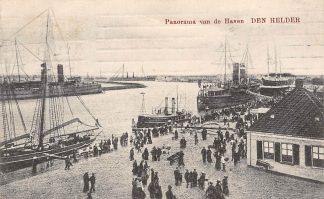 Ansichtkaart Den Helder Panorama van de Haven Marine Schepen Scheepvaart Militair 1911 HC5529