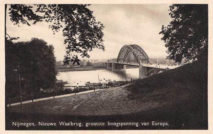 Ansichtkaart Nijmegen Nieuwe Waalburg, grootste Boogspanning van Europa 1939 HC5547