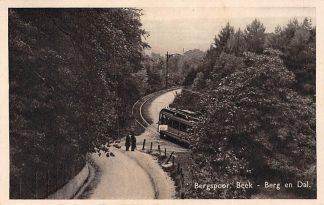 Ansichtkaart Berg en Dal Bergspoor Beek met tram 1939 Nijmegen HC5557