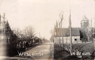 Ansichtkaart Wognum Fotokaart Westeinde 1929 Medemblik HC5586