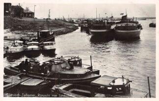 Ansichtkaart Lobith Tolkamer Rijnzicht met Spidodienst Binnenvaart schepen Scheepvaart 1950 HC5594