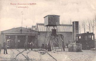 Ansichtkaart Buren (GD) Remise Stoomtram (achterzijde) Tram TBC-lijn Tiel Buren Culemborg Betuwe HC5609