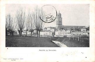 Ansichtkaart Deventer Gezicht op in 1903 HC5615