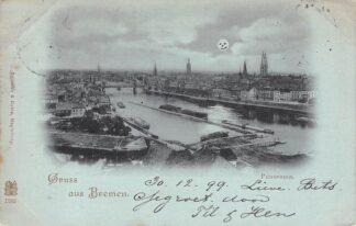 Ansichtkaart Bremen Gruss aus 1899 Panorama Duitsland Deutschland HC5624