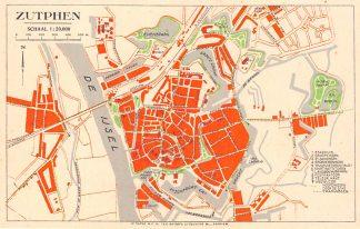 Ansichtkaart Zutphen Plattegrond als briefkaart HC5628