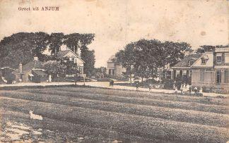Ansichtkaart Anjum Groeten uit 1917 Bij Dokkum Friesland HC5631