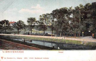 Ansichtkaart 's-Gravenhage Kanaal met tram HTM 1902 HC5633
