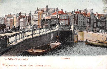 Ansichtkaart 's-Gravenhage Wagenbrug met tram 86 HTM HC5634