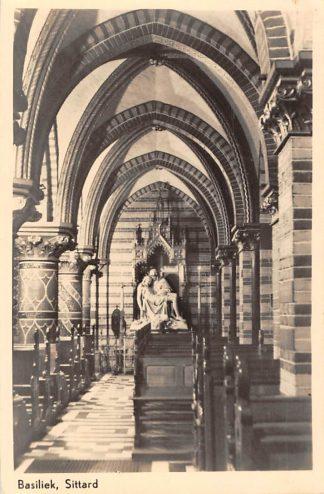 Ansichtkaart Sittard Basiliek van O.L. Vrouw van het H. Hart Maria ter Nood Gods 1948 HC5644