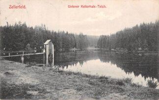 Ansichtkaart Duitsland Zellerfeld Unterer Kellerhals-Teich 1910 Deutschland Europa HC5680