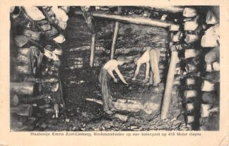 Ansichtkaart Lutterade Staatsmijn Emma Zuid-Limburg Kolenpost op 410 meter diepte Sittard Geleen 1928 Mijn HC5694