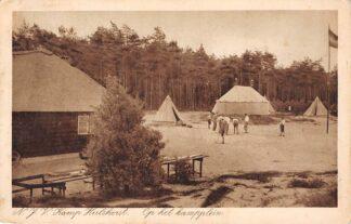 Ansichtkaart Hulshorst N.J.V. Kamp Op het Kampplein 1933 Met stempel Kamp voor Jongemannen HC5708