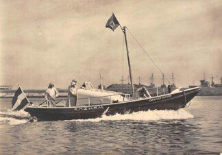 Ansichtkaart Den Helder Motorreddingvlet Christiaen Huygens Reddingboot Scheepvaart Schepen 1956 Reclame Amstleven Verzekeringen Amsterdam HC5715