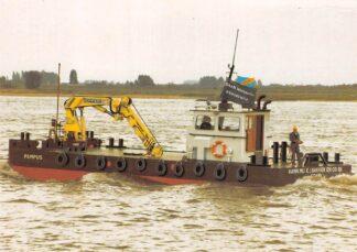 Ansichtkaart Amsterdam Pampus Aann. Mij. E.J. Bakker & Co. B.V. Baan Hofman B.V. Gorinchem Schepen Scheepvaart HC5725